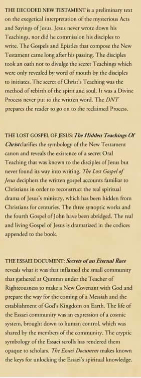 Hidden Teachings of Christ